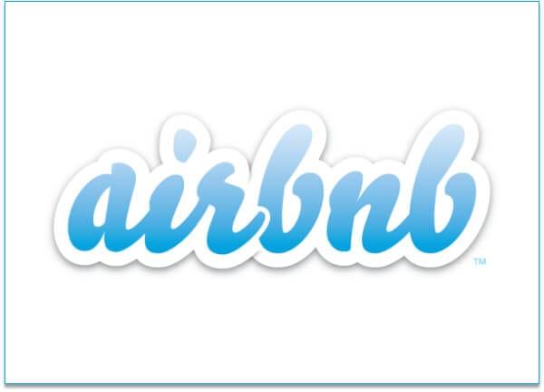Airbnb logo drop