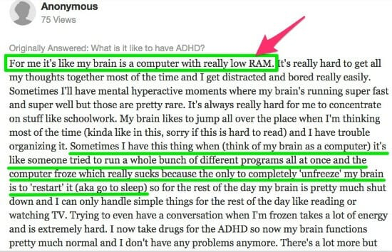 adhd brain feels like a computer with low ram