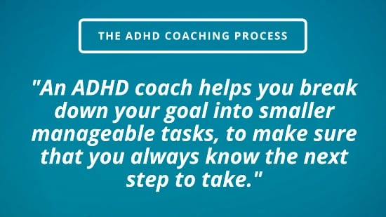 adhd coach helps break down your goal