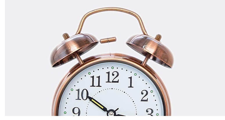 Twin bell alarm clock for adhd compressed