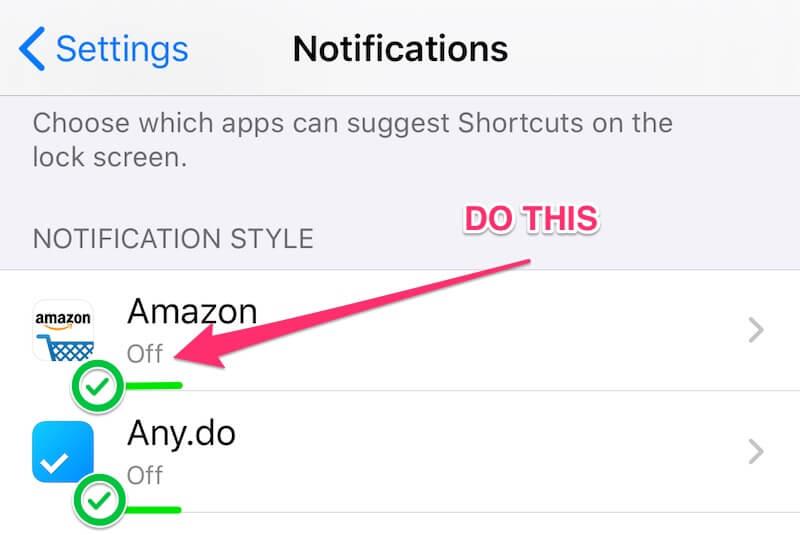 turn off phone notifications adhd
