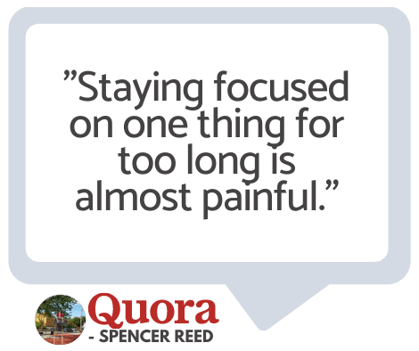 ADHD Staying focused for too long is painful