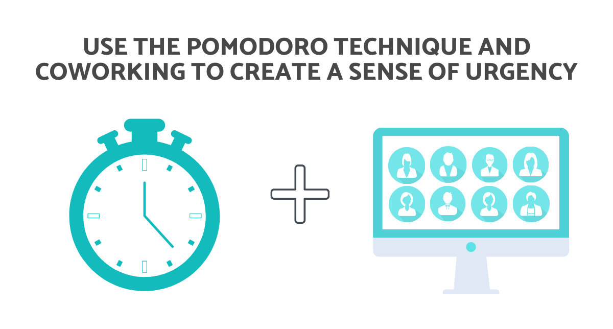 coworking and pomodoro technique sense of urgency